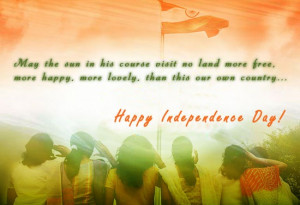 Indian Independence Day Quotes in English Wallpaper