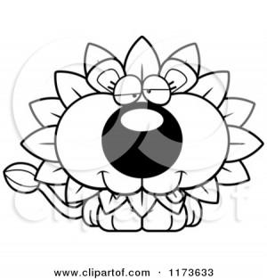 Cartoon Clipart Of A Goofy Dandelion Flower Lion Mascot - Vector ...