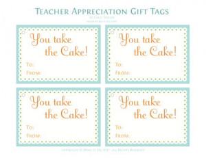 Chocolate Bundt Cake with darling printable {teacher appreciation}