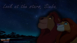 Simba The Lion King Mufasa & Simba love night sky star Wallpaper HD 2