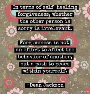 Self-healing forgiveness