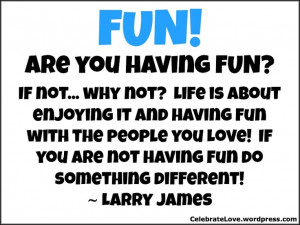 Focus on having fun together!
