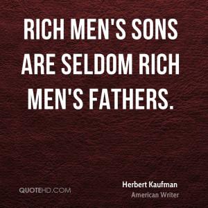 Herbert Kaufman Dad Quotes