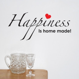 Happiness Is Home Made Wall Sticker Quo...