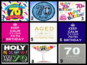 Personalised 70th Birthday Edible Cake Topper Wafer Paper/Icing Paper