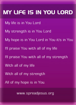 My Life Is In You Lord christian songs Lyrics