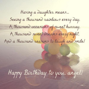 Posts related to Happy birthday quotes to daughter
