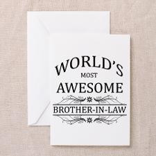 World's Most Awesome Brother-in-Law Greeting Card for