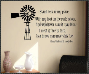 The Windmill Vinyl Wall Quote