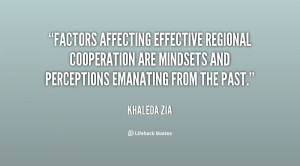 Factors affecting effective regional cooperation are mindsets and ...