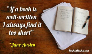 If a book is well-written I always find it too short