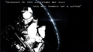 Master Chief and Quote wallpaper