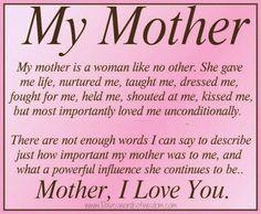 my mother, my friend, my hero