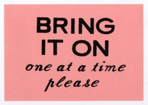 Bring It On Quotes Bring it on (pink) greeting