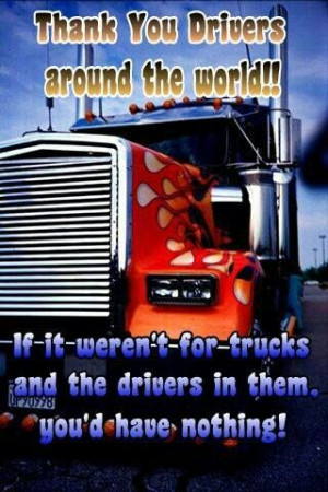 Thanks to drivers all around the world :)