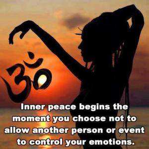 Inner peace begins...