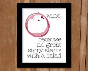 Wine Quote Print 2 – Printable, Instant Download, 8x10, wall poster ...