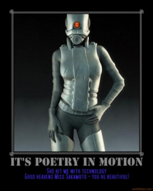 IT'S POETRY IN MOTION -