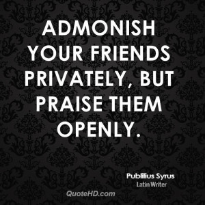 Admonish Quote