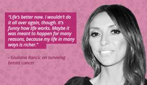 Giuliana Rancic on Surviving Breast Cancer