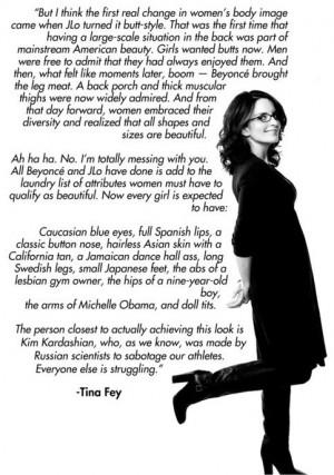 Tina Fey quote, actually pretty funny