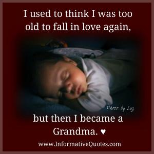 When I became a Grandma