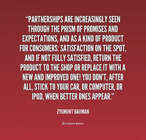 ... prism of promises and expectat... - Zygmunt Bauman at Lifehack Quotes