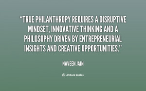 True philanthropy requires a disruptive mindset, innovative thinking ...