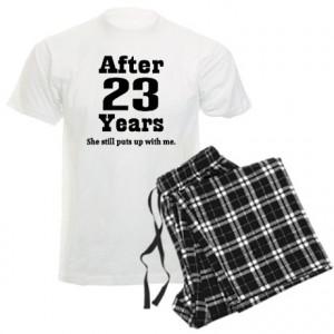 23rd Anniversary Funny Quote Men's Light Pajamas