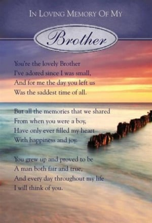 brother for all those brothers in heaven