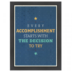 Americanflat Inspirational Quotes Accomplishment Poster