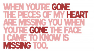When You're Gone - Avril LavigneRequest for anon