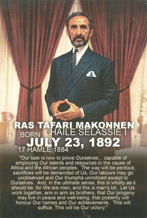 Emperor Haile Selassie I 121st Earth strong