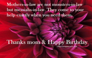Mother-In Law Birthday Wishes form Son-in-law & Daughter-in-law