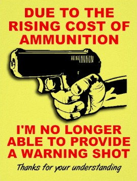 Warning Shot Funny Poster Sign Zazzle.co