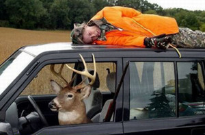 World's worst deer hunter.