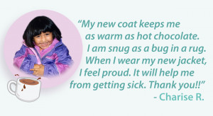 when i wear my new jacket i feel proud because it save me from cold ...