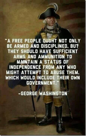 The first president of the US.