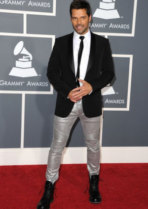 Ricky Martin loves wearing Ugg boots (not in the image) has been seen ...