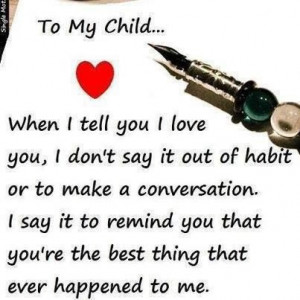 love my child quotes and sayings