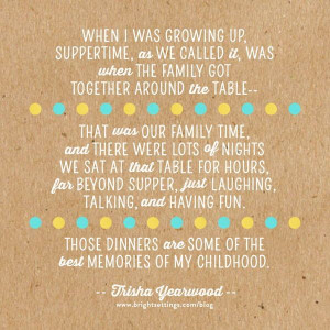 ... Trisha Yearwood on the importance of families eating dinner together