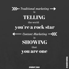 quote - #TraditionalMarketing and advertising is telling the world ...