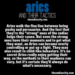 Aries Personality Traits List
