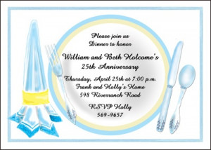Dinner Party Invitations for 25th Wedding Anniversary areBecoming Very ...