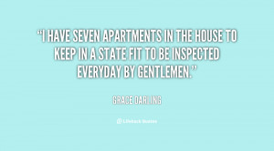 have seven apartments in the house to keep in a state fit to be ...