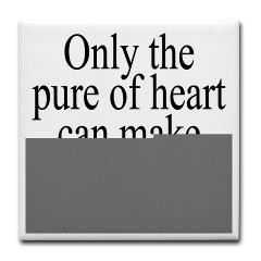 good soup tile coaster only the pure of heart can make good soup ...