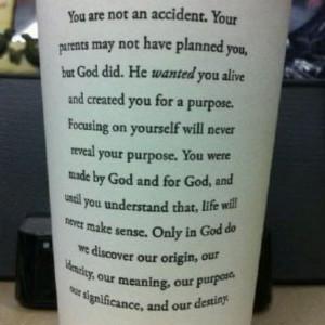 Dr Rick Warren - purpose driven life
