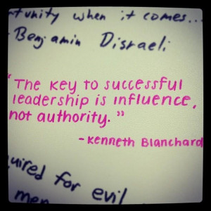 ... to-successful-leadership-is-influence-not-authority-kenneth-blanchard