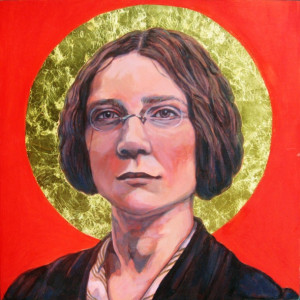 Oil & Gold Leaf on panel, 12 x 12 in, 2008 (Dorothy Sayers)