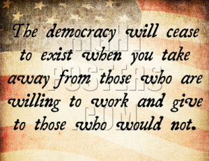 Democracy Cease Quote Poster